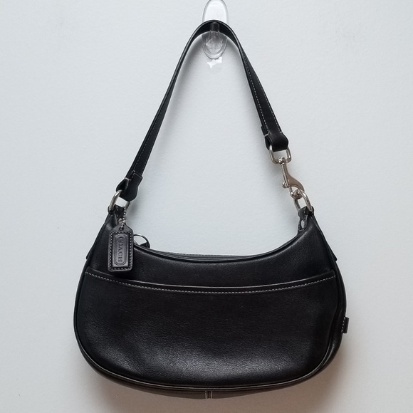Coach Handbags - COACH | BLACK MINIBAG, SILVER HARDWARE